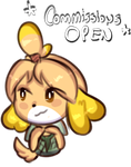 Commissions (OPEN) -isabelle- by shadina-hedgehog