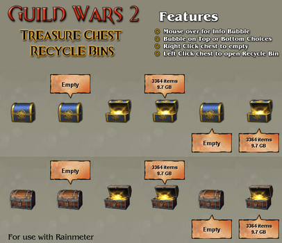 Guild Wars 2 Recycle Bins by Imaginos9