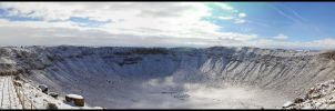 Meteor Crater Snowy Panorama by freezejeans
