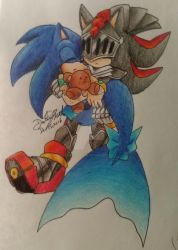 Lancelot x Sonic the Merhog by GilGummyBear
