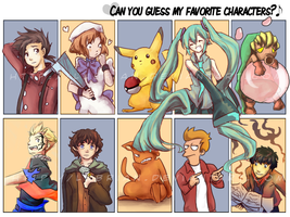 Top Ten Character Meme by Lubrian