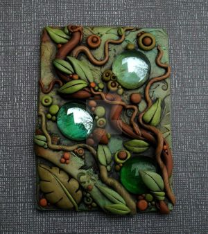 Droplets in the forest ACEO