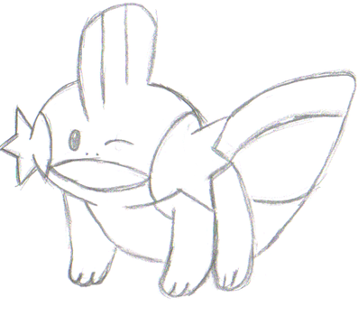 Winking Mudkip by EmuCheeze