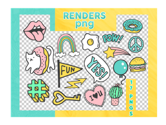 Renders Png - Stickers by reeawhatever