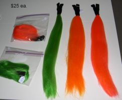 Equine tails for sale (bright colors) by Bladespark
