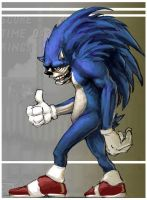 Burnout sonic by mobius-9