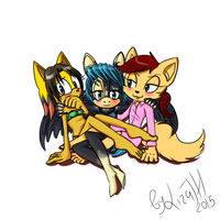 Trio(withoutbg) by lizathehedgehog