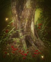 Fairytale Wood free background by moonchild-ljilja