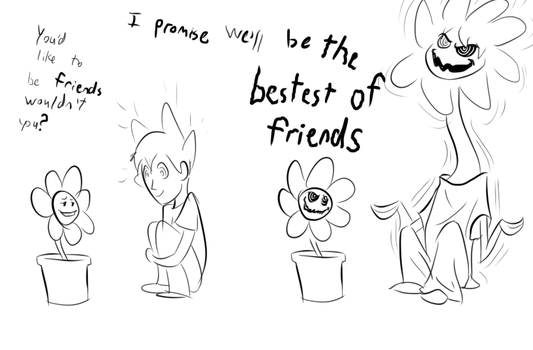Flowey's Bestest Friend by Fighting-Wolf-Fist