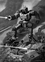 Highlander Battle - BattleTech by AaronMiller
