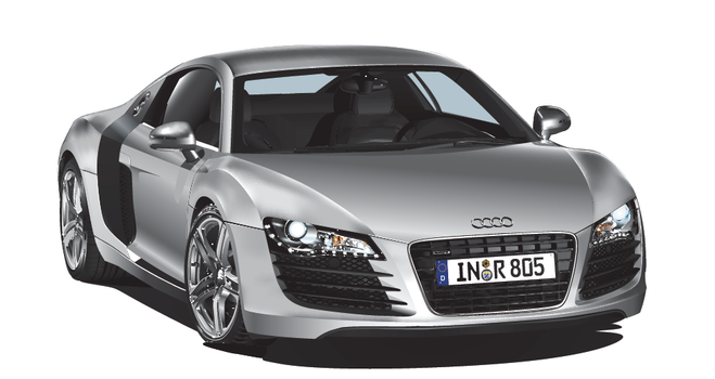 Audi R8 perfect vector by LoinCandy