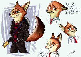 Nick Wilde / Haida thing by juantriforce