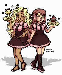 Baking Witches Meri and Latte by mslckitty