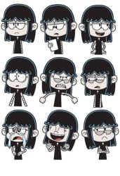 Lucy Loud - Black in Black by MikikiMr