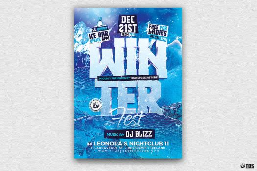 Winter Festival Flyer Template V2 by Thats-Design