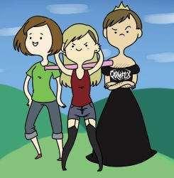 me and my friends in adventure time style by amy-ichibi