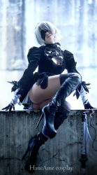 Hane Ame cosplay 2B cosplay nier: automata 9S by HaneAme