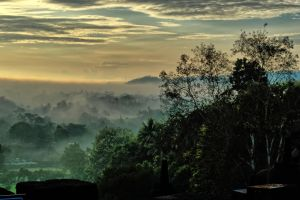 View from Borobudur by sapoguapo