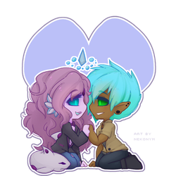 [ YCH ] Chibi Couple for FracturedFable by Nekonym