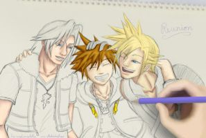 Kingdom Hearts Reunion by angelwingkitty