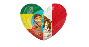 {PC} Chibi Heart Flag Series: EthMex by Spirit-Okami