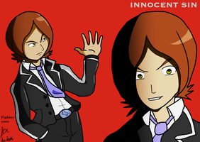 Persona 2 Innocent Sin Protag Tatsuya Suou by fighterxaos