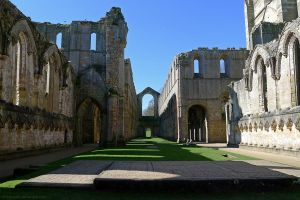 Fountains Abbey Inside the Church by bobswin