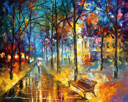 Colors Of My Past by Leonid Afremov by Leonidafremov