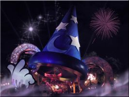 Mickey Sorcerer Hat Wallpaper by WDWParksGal-Stock