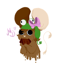 The little pixel tiny cute frog lover mice wearing by Lulugepi