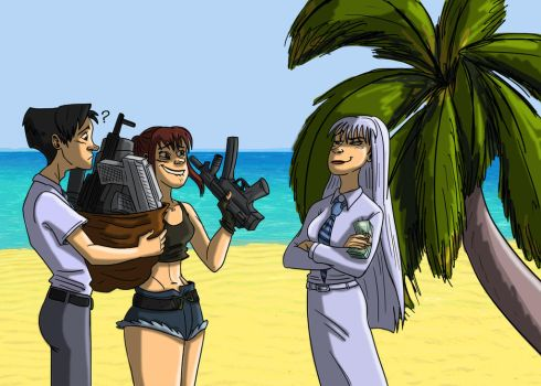 Black Lagoon and Jormungand crossover commission by DitaDiPolvere