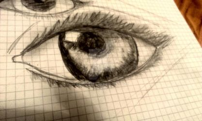 Traditional realistic eye practice by ChatteArt