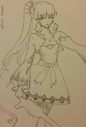 RWBY: Weiss Schnee (sketch/reference drawing) by khrystinaaa