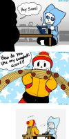 Papyrus' Swaghetti Scarf by APEX-Knight