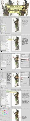 How to touch up a drawing in GIMP by TheBrassGlass