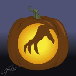 Halloween Pumpkin Pattern: Monsterclaw by Laffler