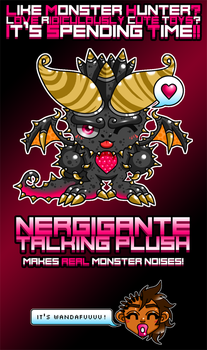 Nergigante Plush by debureturns