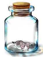 Chi in a Bottle by Leopardclawthecat