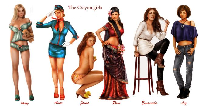 The crayon girls by crayonmaniac