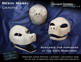 Resin Mask: Canine v1.1 by CanineHybrid
