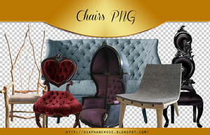 [ 4 ] Chairs png pack by Diaphanerose