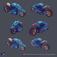 lowpoly naked power bike by OliverJanoschek