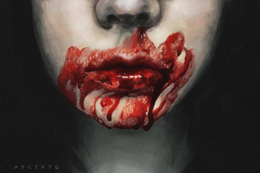 Bloody mouth by MatteoAscente