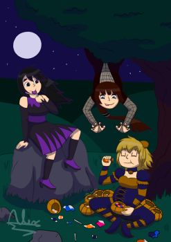 Chilling In Spooky Dresses by Augustusalex