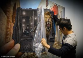 Mighty and Ferocious Lion - Exhibition in Seoul by BenHeine
