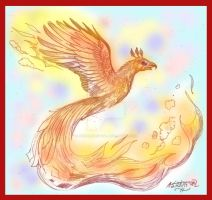 Emberstar Male Phoenix Red Orange Fire by StephanieSmall