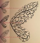 Mehndi design | COMMISSION (sketches) by MajorasMasks