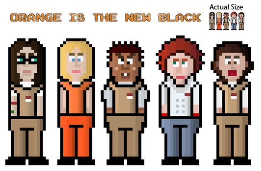 Orange Is The New Black Pixel Characters by SerenissimaLuna