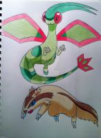 Flygon and Linoone
