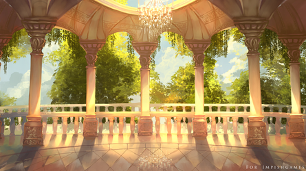 Visual Novel Background for a background by Faesu